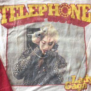 Women's Lady Gaga telephone rock vintage T-shirt
